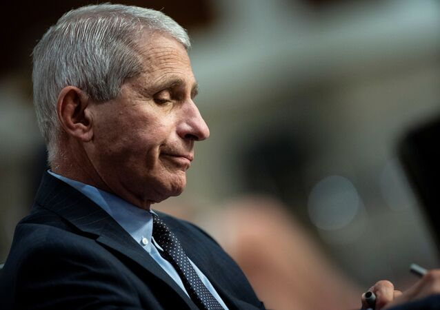 Anthony Fauci, director of the National Institute of Allergy and Infectious Diseases, listens during a Senate Health, Education, Labor and Pensions Committee hearing on efforts to get back to work and school during the coronavirus disease (COVID-19) outbreak, in Washington, D.C., U.S. June 30, 2020.
