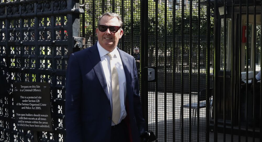 British politician Liam Fox arrives at Parliament in London, Tuesday, 2 June 2020