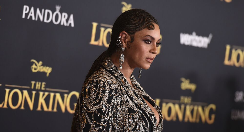 Beyonce arrives at the world premiere of The Lion King on Tuesday, 9 July 2019, at the Dolby Theatre in Los Angeles