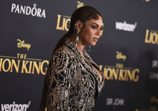 Beyonce arrives at the world premiere of The Lion King on Tuesday, July 9, 2019, at the Dolby Theatre in Los Angeles