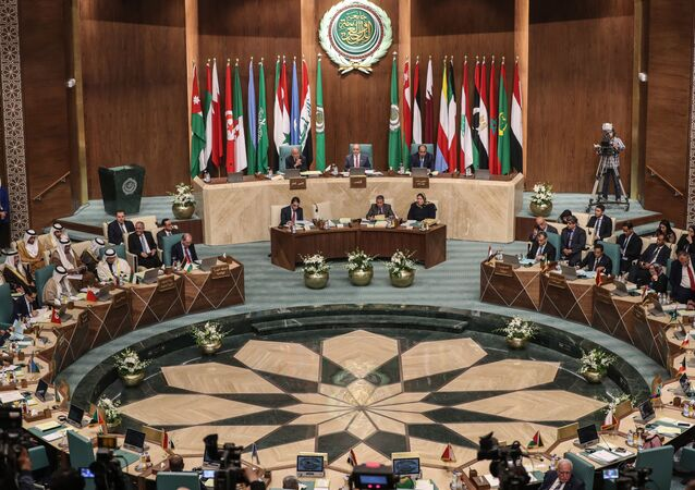 Arab Foreign Ministers take part in their 153rd annual session at the Arab League headquarters in the Egyptian capital Cairo, on March 4, 2020.