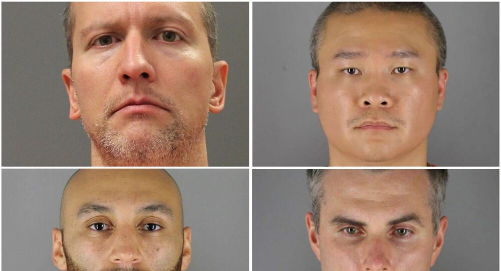 Former Minneapolis police officers (clockwise from top left) Derek Chauvin, Tou Thao, Thomas Lane and J. Alexander Kueng poses in a combination of booking photographs from the Minnesota Department of Corrections and Hennepin County Jail in Minneapolis, Minnesota, U.S.  Minnesota Department of Corrections and Hennepin County Sheriff's Office/Handout via REUTERS.