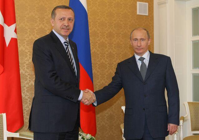 Vladimir Putin and Recep Tayyip Erdogan in Sochi