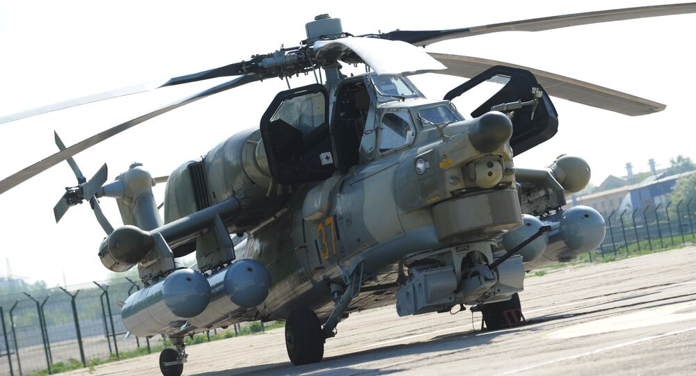 A Mil Mi-28-NE Havoc [Night Hunter] attack helicopter