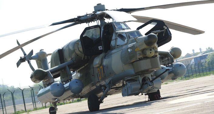 A Mil Mi-28-NE Havoc [Night Hunter] attack helicopter
