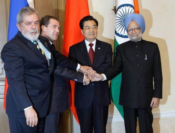 Summit meeting of BRIC (Brazil, Russia, India, and China) - Sputnik International