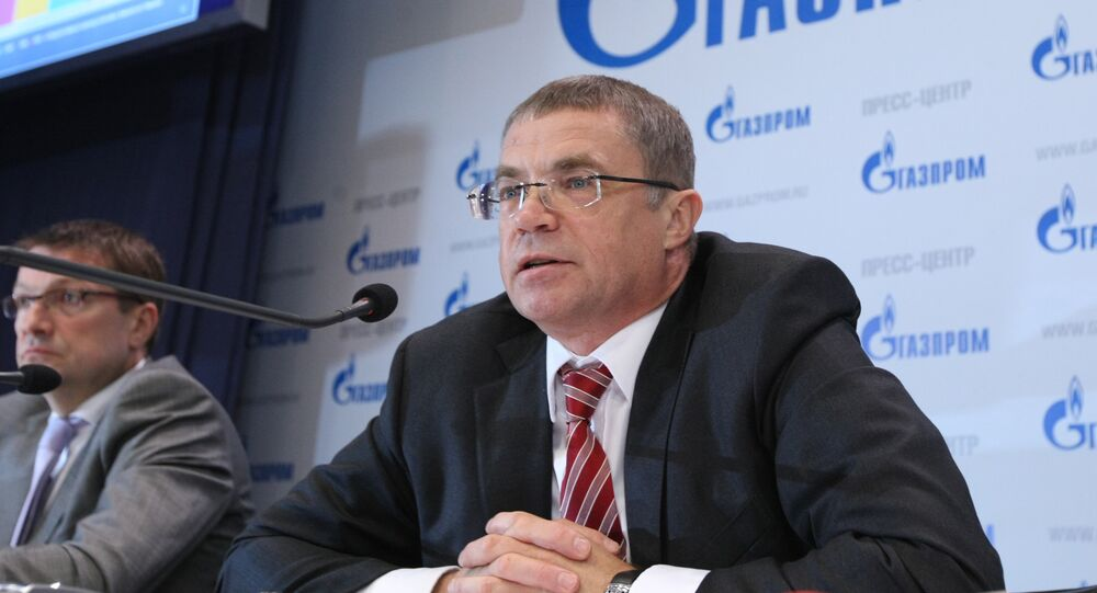 News conference in Gazprom's press center in Moscow
