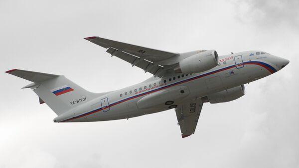 Russian-Ukrainian Antonov An-148 regional jet unveiled in Voronezh - Sputnik International