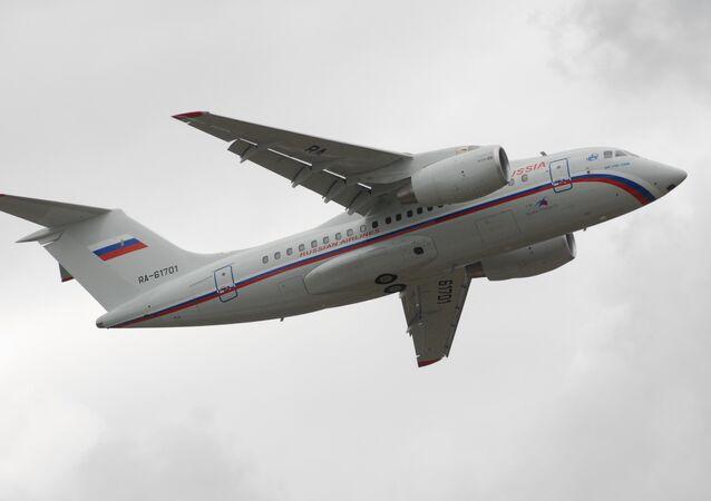 Antonov An-148 regional jet in Voronezh