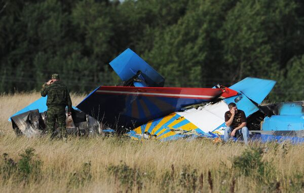 Two fighters collide during preparations for MAKS-2009 - Sputnik International