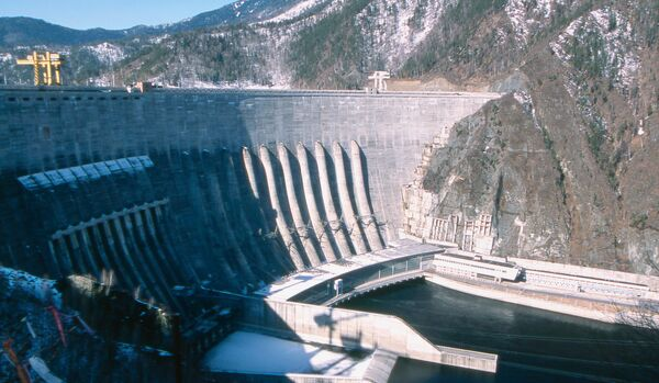 Dam of the Sayano-Shushenskaya hydroelectric power plant - Sputnik International