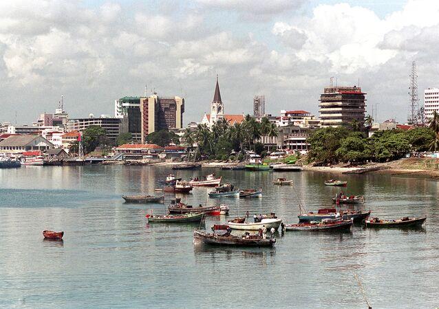 Dar-es-Salaam port in Tanzania