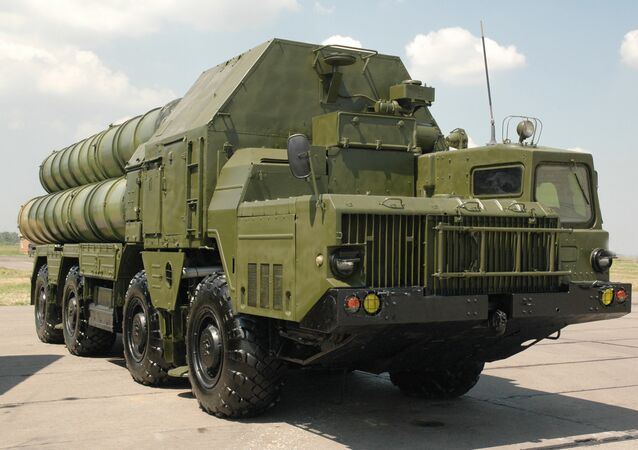 An S-300 surface-to-air missile system