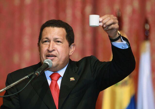 Venezuelan President Hugo Chavez in Moscow