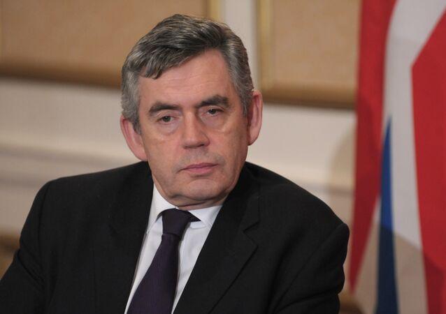British Prime Minister Gordon Brown attends a G20 summit. File photo