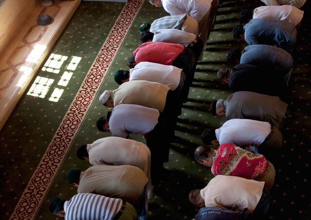 Muslims in Mosque