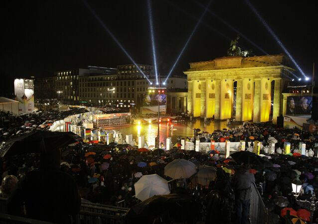 20th anniversary of fall of Berlin Wall