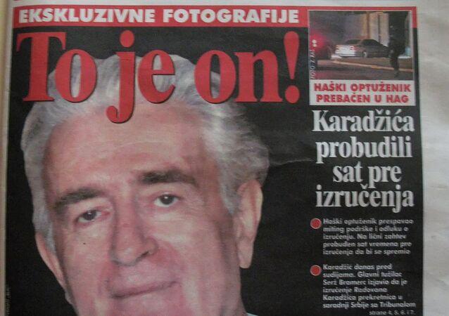Article about Radovan Karadzic in Belgrade's Blitz newspaper