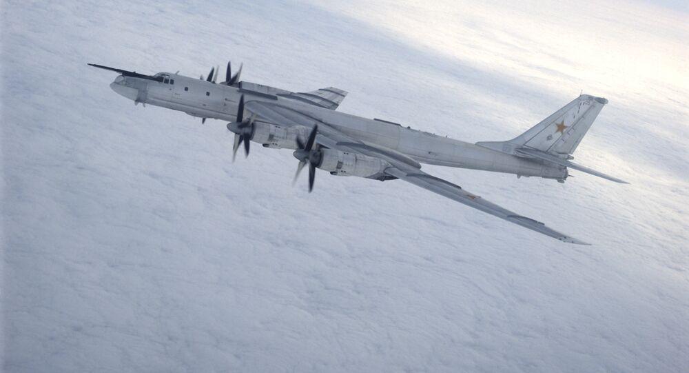 A Tupolev Tu-95 Bear strategic bomber