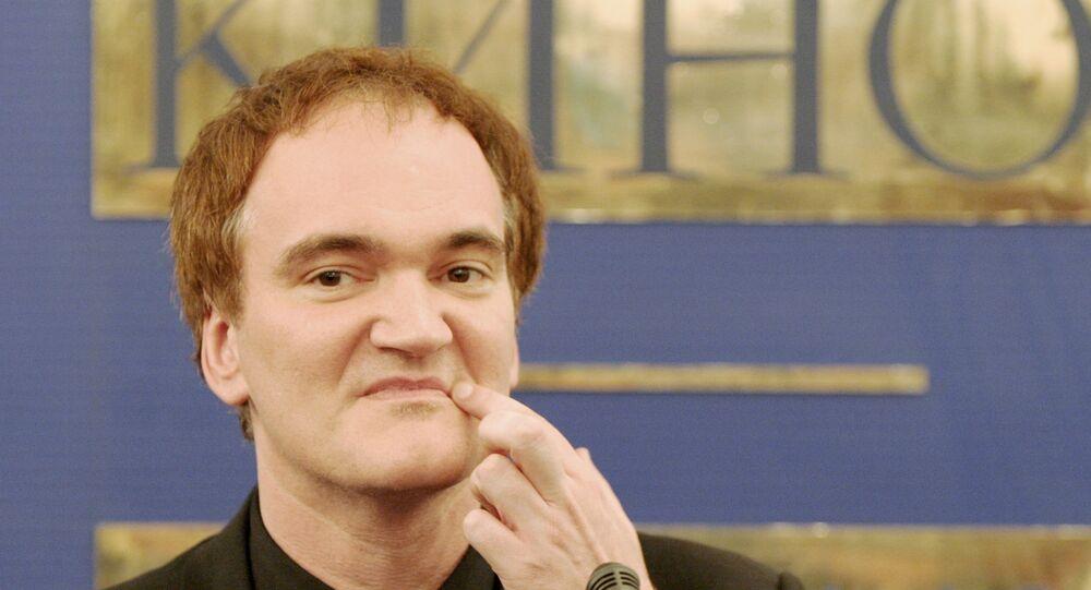 Quentin Tarantino attends press conference