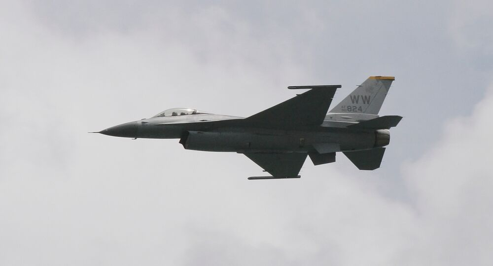 US Air Force F-16 fighter jet