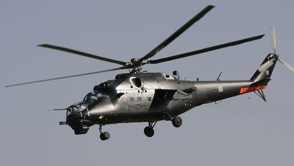 A Mil Mi-35-M Hind helicopter gunship - Sputnik International