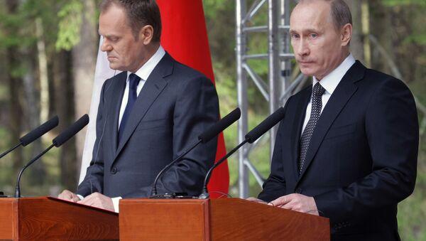 Prime Minister Vladimir Putin visits Katyn memorial - Sputnik International