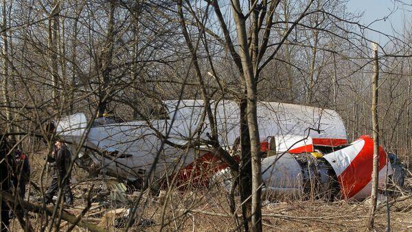 Polish Air Force Tu-154 crash site outside Smolensk - Sputnik International