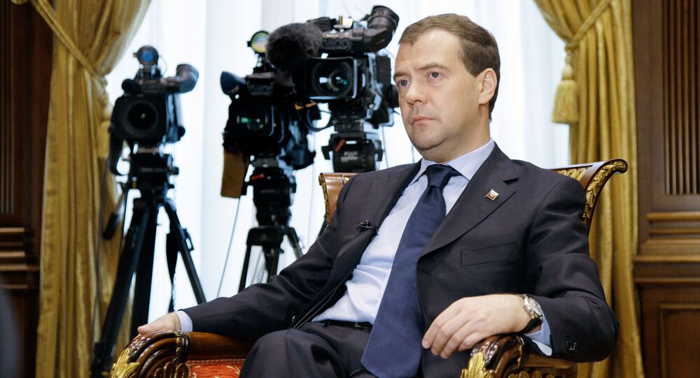 Dmitry Medvedev gives interview to Norway's Aftenposten newspaper