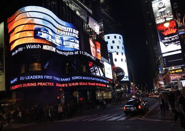 Times Square and Broadway Street in New York City