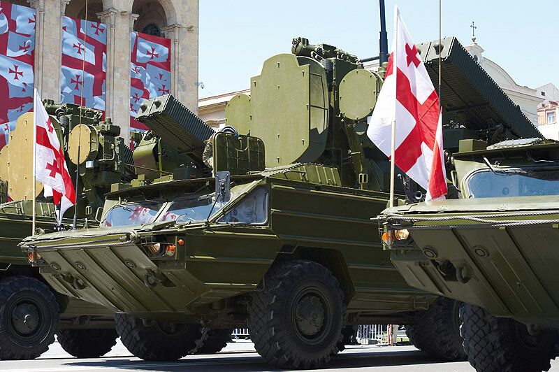 Military parade marking Georgia's Independence Day