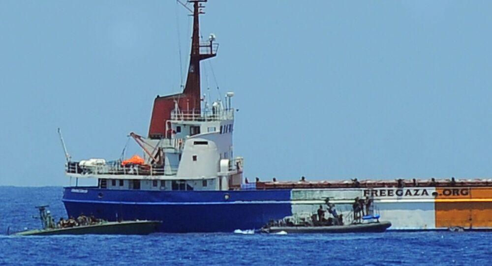Israeli navy seize last Freedom Flotilla ship (file photo)