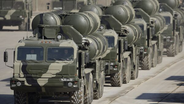 S-400s preparing for Victory Day at a training ground outside Moscow. - Sputnik International