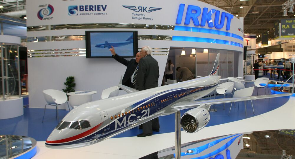 A UAC stand at the Paris Air Show. Archive.