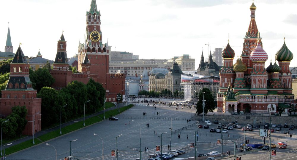 View of the Kremlin and St. Basil Cathedral