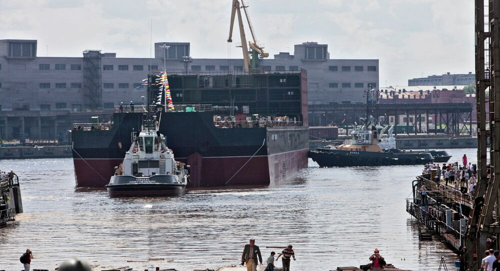 Russia's first floating nuclear power station Akademik Lomonosov