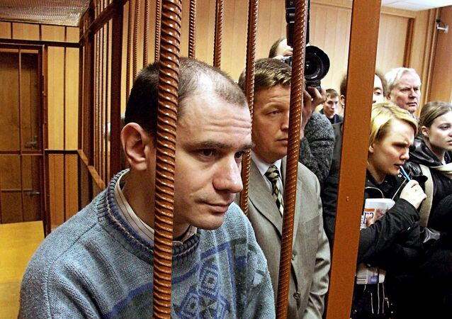 Researcher Igor Sutyagin in courtroom after verdict announcement