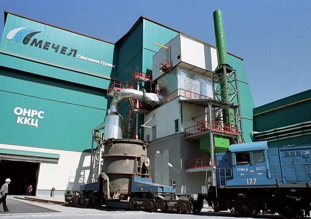 A Mechel metallurgical plant in Chelyabinsk
