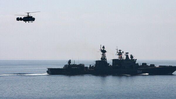 Совместный выход в море кораблей Тихоокеанского флота для отработки задач боевой подготовки - Sputnik International