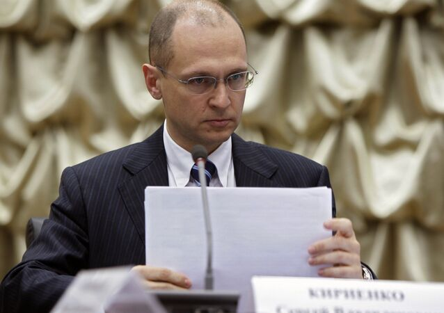 Sergei Kiriyenko, the head of the Russian Federal Atomic Energy Agency (Rosatom)