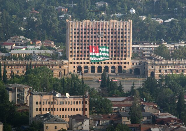 The parliament building in the Abkhazian capital