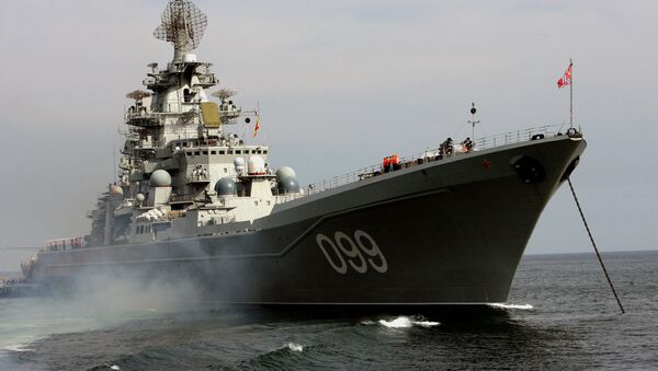 Petr Velikiy battlecruiser - Sputnik International