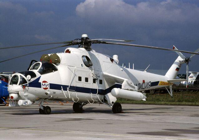Russian Mi-35 helicopter gunship