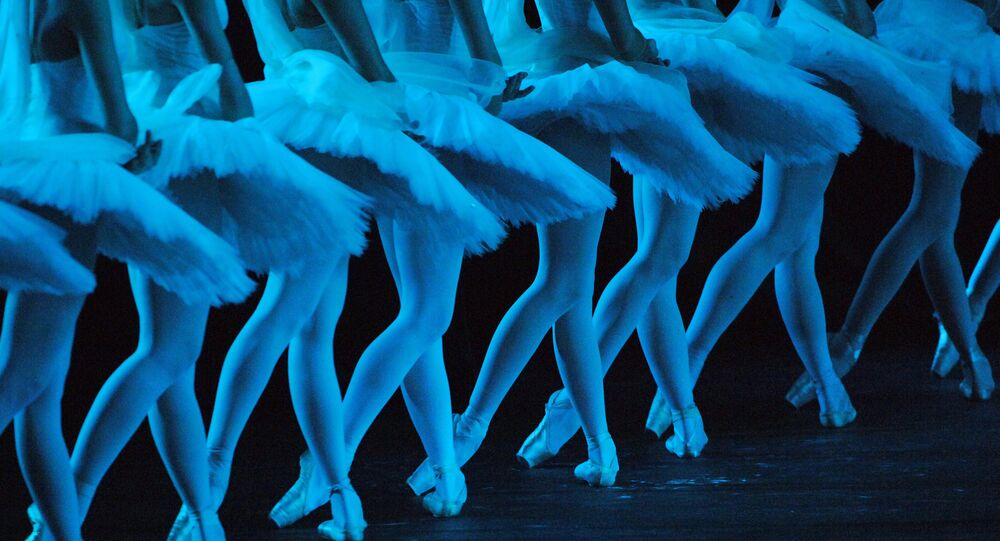A scene from the ballet La Bayadere staged by Yuri Grigorovich.