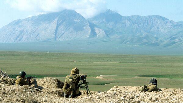 Tajik soldiers - Sputnik International