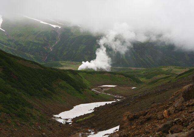 Geothermal generation station on Kamchatka
