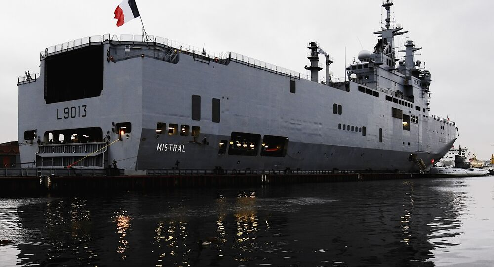 Mistral class helicopter carrier