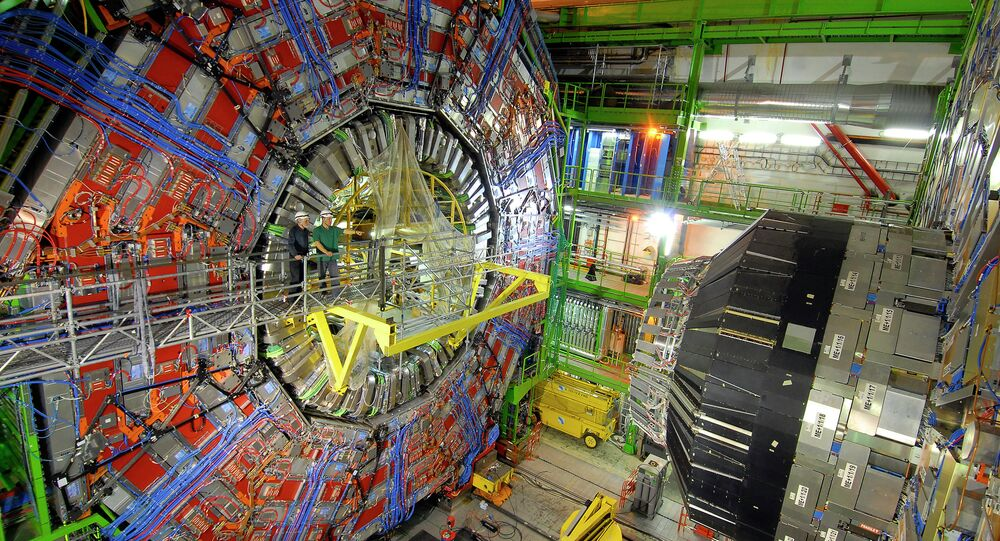 The CERN collider, Switzerland