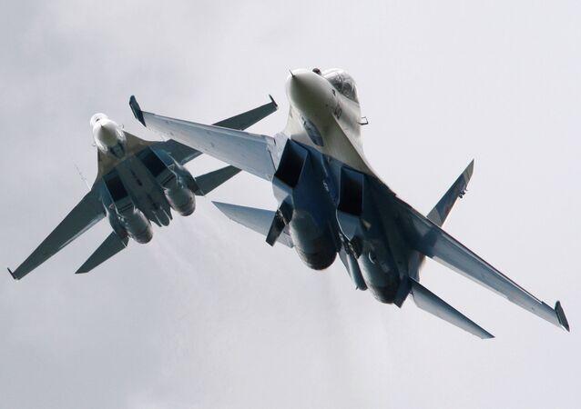 Su-27 fighter jets