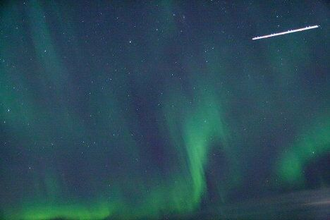 The Northern Lights paint the skies of Arkhangelsk
